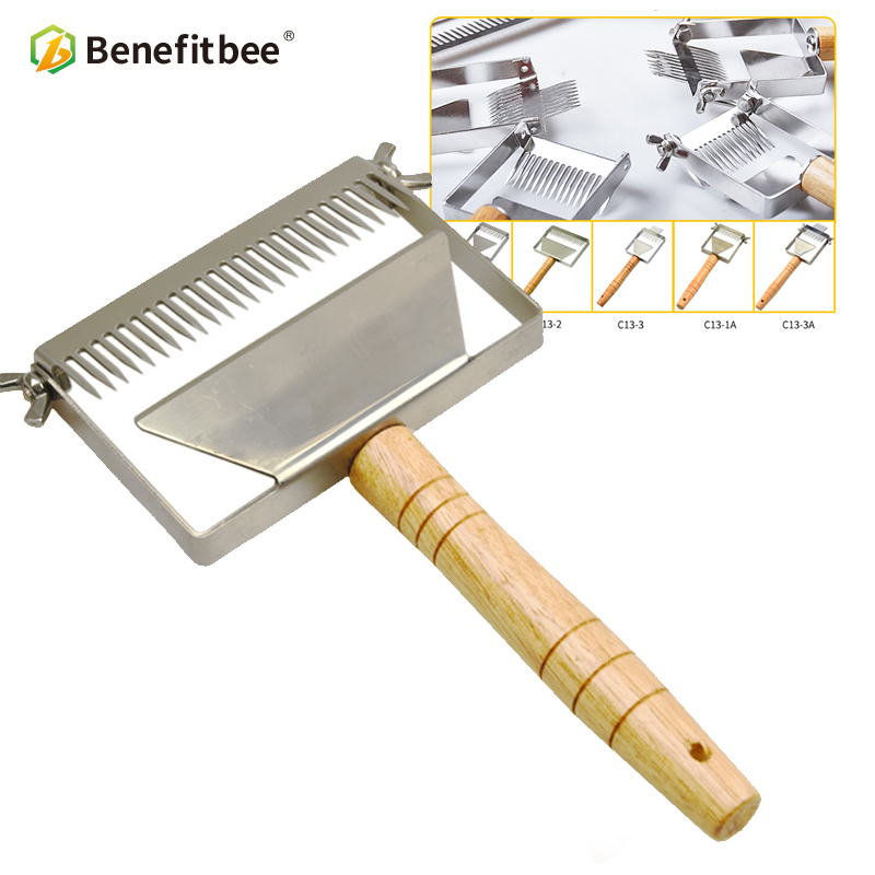 Benefitbee Brand Stainless Steel Uncapping Fork Honey Scraper Adjustable Uncapping Forks Beekeeping Tool New Updated Honey Knife