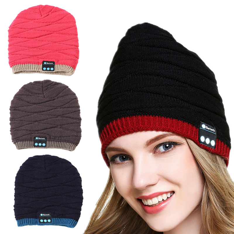 Smart Cap Wireless Bluetooth New Fashion Men Women Unisex Winter Warm Hat Smart Cap Headset Headphone Speaker Mic for Cell Phone aetrue winter beanie men knit hat skullies beanies winter hats for men women caps warm baggy gorras bonnet fashion cap hat 2017
