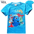2016 Crianças de Moda Dos Desenhos Animados Encontrando o Dory Finding Nemo Crianças Meninos Das Meninas Do Bebê T-Shirt Das Meninas Tops T camisas Roupas de Criança Roupas