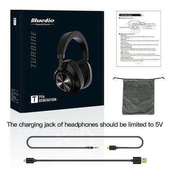 Bluedio T7 Bluetooth Headphones ANC Wireless Headset bluetooth 5.0 HIFI sound with 57mm loudspeaker face recognition for phone 6