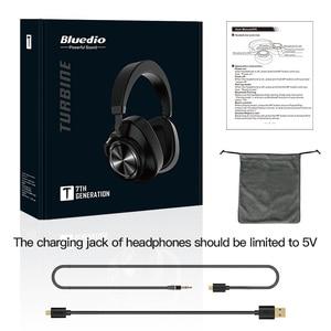 Image 5 - Bluedio T7 Bluetooth אוזניות ANC אלחוטי אוזניות bluetooth 5.0 HIFI קול עם 57mm רמקול זיהוי הפנים עבור טלפון