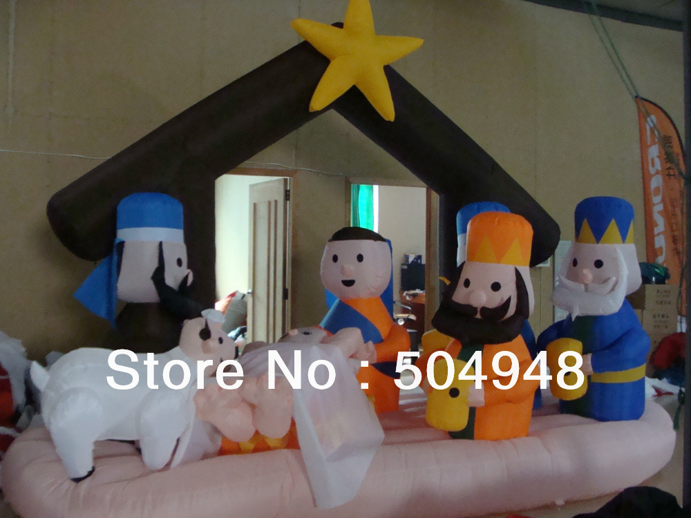 Christmas Inflatable Nativity Scenes Yard Decor шампунь brelil professional repair shampoo