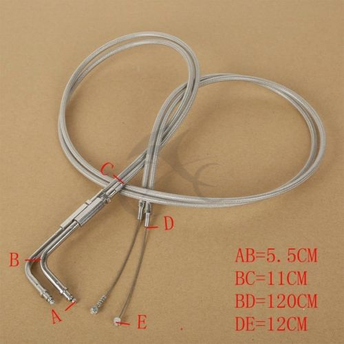 48 120 CM Braided Throttle Cable For Harley Davidson Dyna Softail Sportster Tour Electra Street Glide
