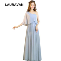 modern simple modest formal grey ladys chiffon ladies evening wear gowns party dress long women one shoulder dresses gown