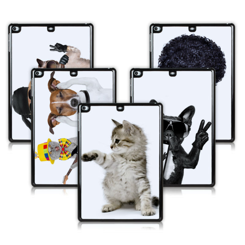 BTD Small Gray Kitten Hard Case for ipad air Cool Dog Plastic Cover for ipad 5th Guitar Cat Free Screen Protector