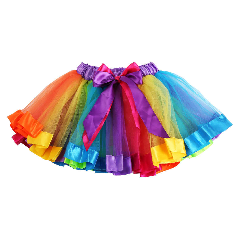 371bfa8f5 Detail Feedback Questions about Rainbow Skirts Girl Clothing Summer ...