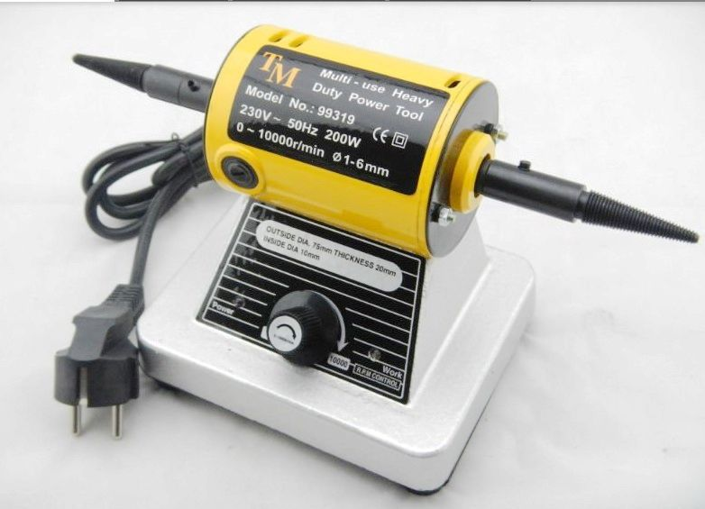 220V Adjustable speed grinding & polishing machine included two Buffing Wheel Jewelry Making tool купить недорого в Москве