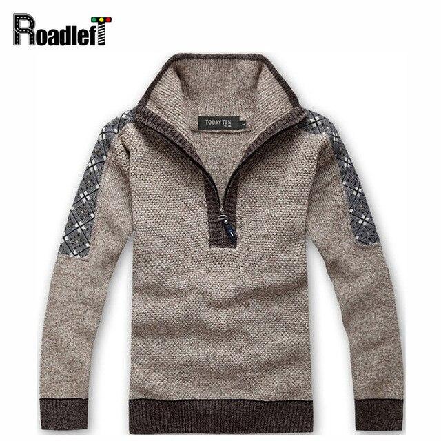 Мужской осенью и зимой бренд sweter свитер мужской утолщение повседневная пуловеры Мужчины перемычка водолазка трикотажные тянуть шерстяные свитера