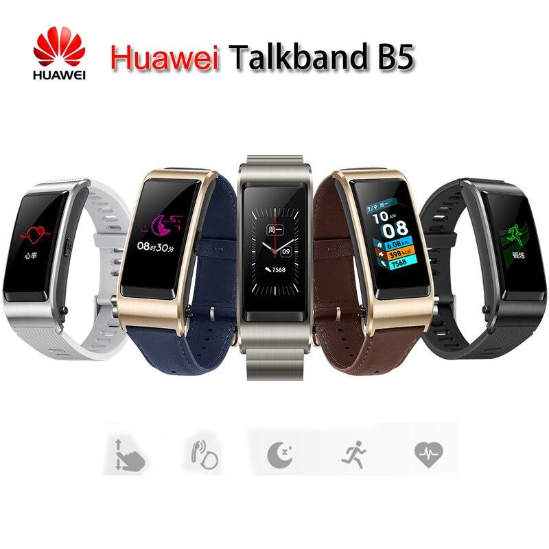 Новый умный Браслет huawei Talkband B5 с Bluetooth, носимый Спортивный Браслет, AMOLED экран, напоминание о звонке, наушник