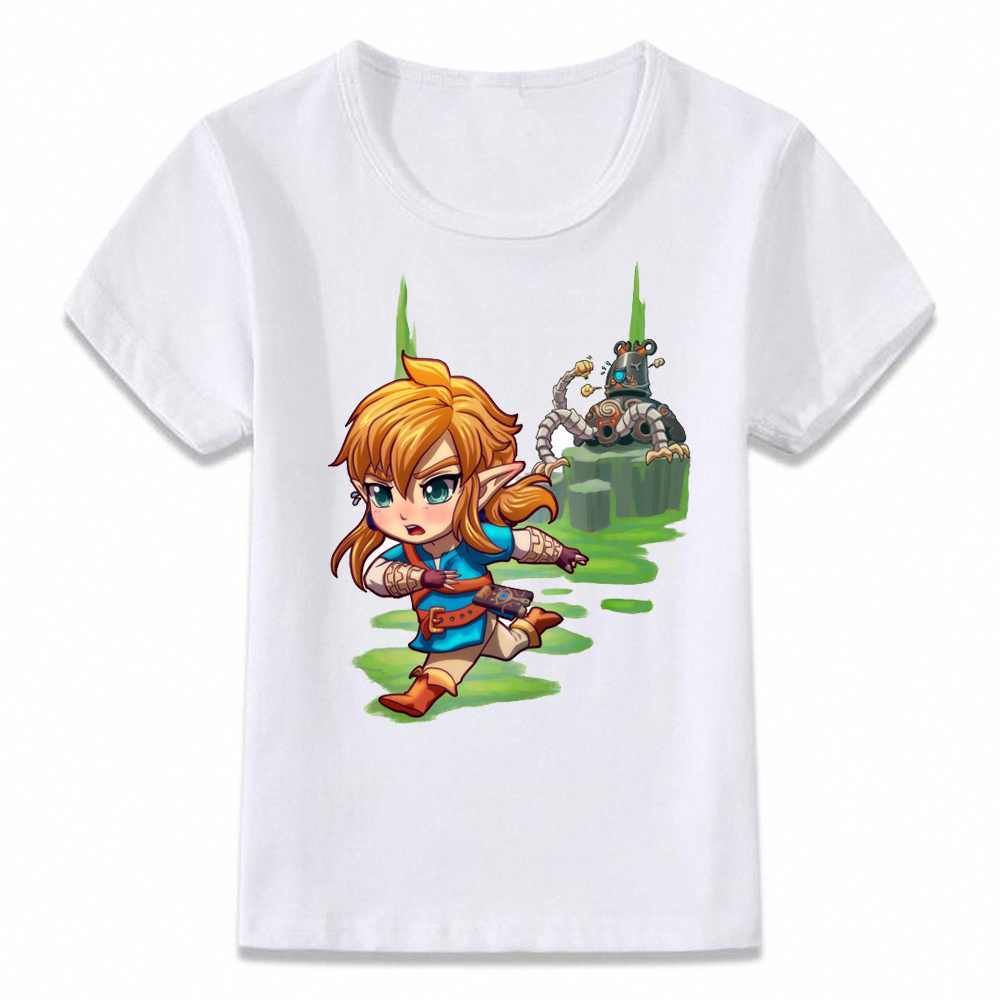 Kids T Shirt Breath Of The Wild Zelda Link Escape From Guardian Children T-shirt For Boys And Girls Toddler Shirts Tee Oal268