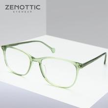 86a799c85a9 ZENOTTIC Green Retro Prescription Glasses Frame Women Myopia Hyperopia Eyeglasses  Frame Vintage Eye Glasses Frame Optical