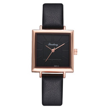 Women Lady Girl Wrist Quartz Watch PU Leather Square Alloy Fashion Durable Gift GDD99
