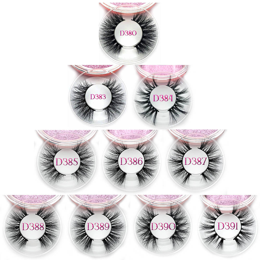 Natural 3D Thick Mink Lashes Hand Made Flase Eyelashes For Beauty Full Strip Lashes Makeup Tools D311 To D320
