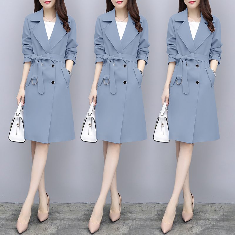 Spring Stylish Women's Windbreaker Vogue Office Lady   Trench   Coat For Women Casaco Feminino   Trench   Female Windbreakers Raincoat
