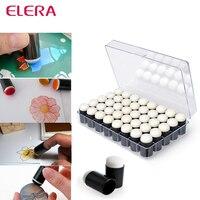 ELERA 40pcs Lot Sponge Finger Daubers Foam With Box Finger Painting Craft Set Fingerpaint Drawing Sponge