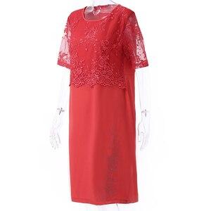 Image 5 - Rimiut 5XL 6XL Women Summer Autumn Big Size Dress Elegant Lace Dress Female Large Size Evening Party Dresses vestido Plus size