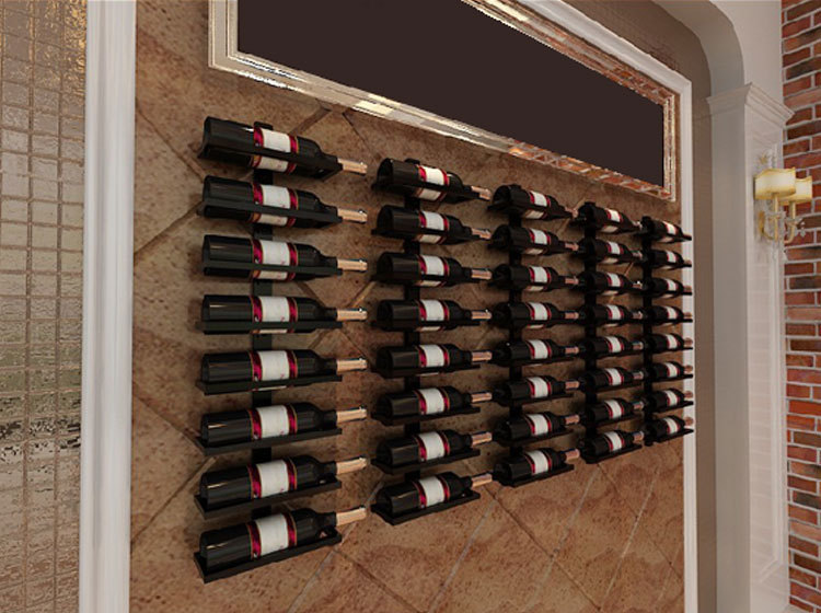 Iron Wine Rack Wine Wine Storage Display Showcase Hotel