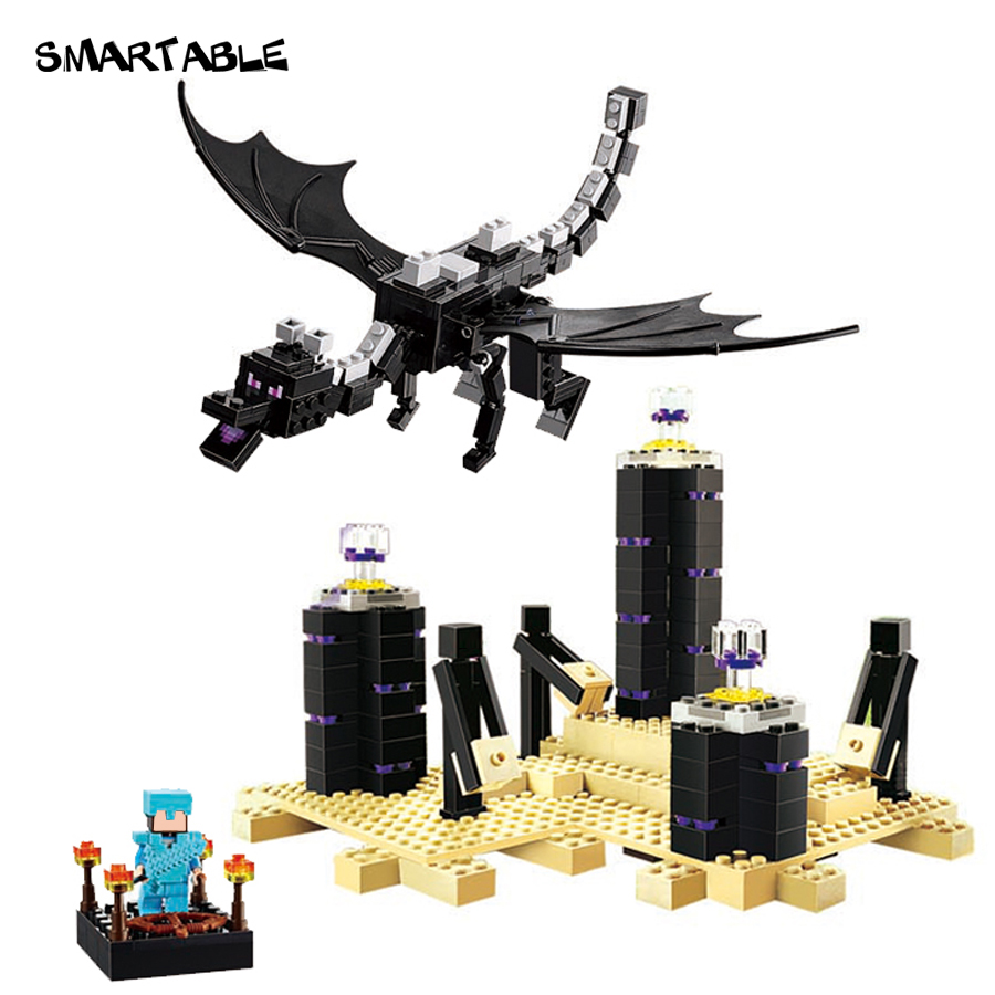 Smartable 634pcs Minecrafted Building Block Ender Dragon 79073 Figure Bricks toys Minecrafted gift for children цена
