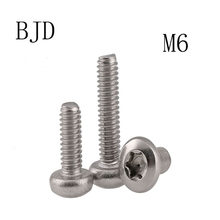 10pcs M6 screws GB2672 304 stainless steel The anti-theft Torx round head in burglar six lobe pan head machine security screws(China)