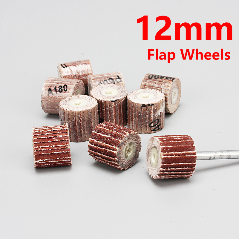 1Pcs 12mm Sanding Flap Disc Grinding Wheels Brush Sand Dremel Accessories For Abrasive Grinder Rotary Tools