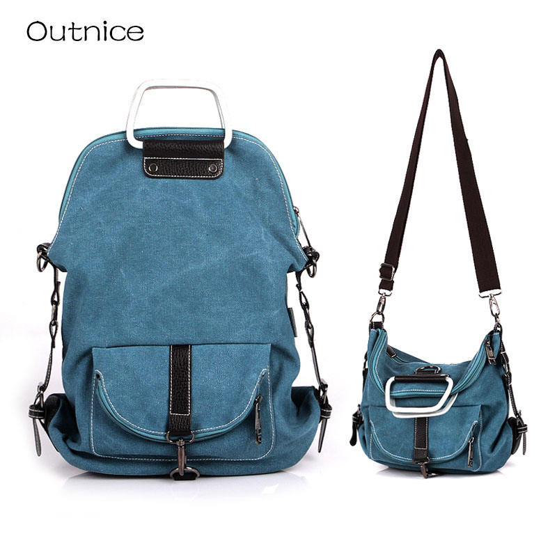 Batoh Multifunction Women Backpack for Teenager Girls Canvas Back Pack One Strap Shoulder Bag