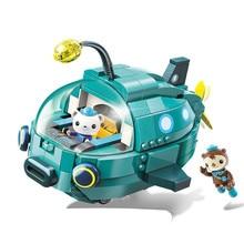 Просвещения создатель идеи город Фонари рыбы лодка мультфильм Octonauts блоков Модель Устанавливает Дети Совместимость Legoings Duplo