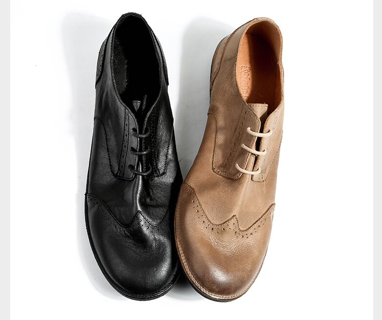 Handmade brogue shoes lace up genuine leather flats loafers summer moccasins smart casual single shoes carved brathable brogue men fashion business dress genuine leather shoes carved brogue lace up flats shoe breathable comfort loafers moccasins footwear