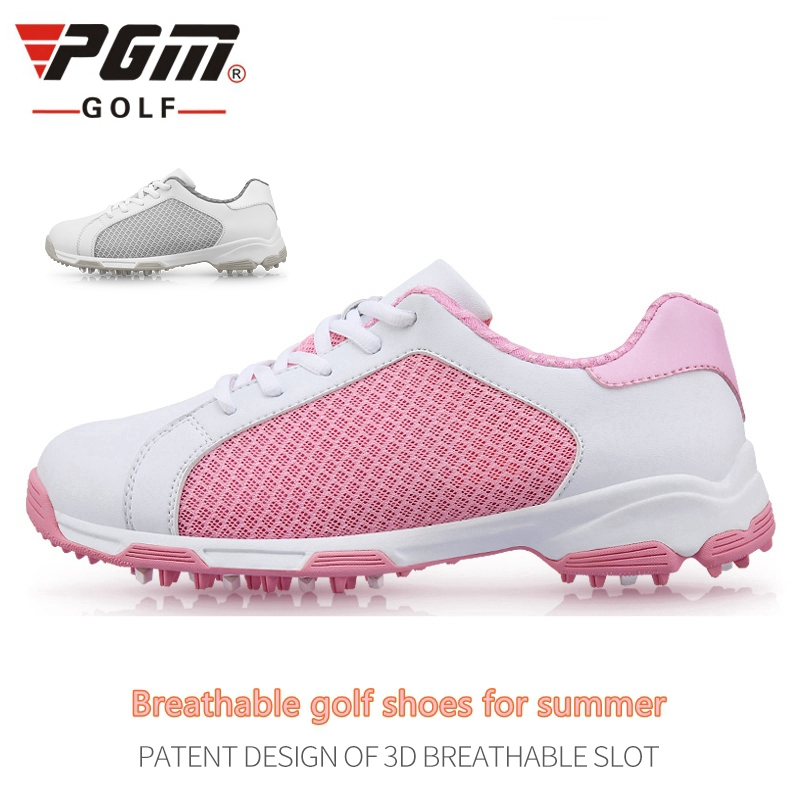 PGM Womens Ladies Girls Women Golf Sports Air Mesh Summer Shoes Light Weight & Steady & Waterproof & Breathable & Anti-Sideslip