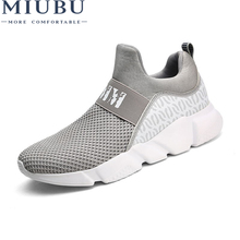 MIUBU Brand Summer Men Socks Sneakers Beathable Mesh Male Casual Shoes Slip on Sock Loafers Boys Super Light Trainers