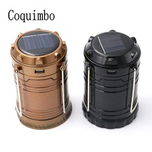 Classic style LED Rechargeable Hand Lamp Collapsible Solar Lantern Tent Lights for Outdoor Lighting Hiking Travel lighting
