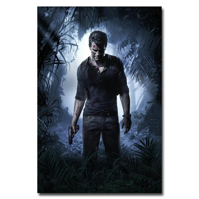 Шелковый Плакат Гобелен игра Uncharted 4 вариант 2