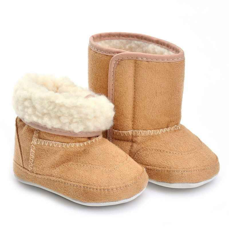 USA Baby Girl Snow warm Boots Winter Plush Booties Infant Toddler Newborn Crib Long Shoes 0-18M