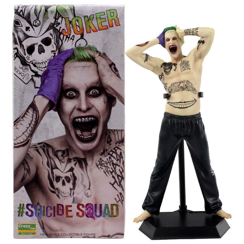 33CM Suicide Squad Joker Action Figure Crazy Toys Batman Imposter Ver. Joel Kinnaman Joker PVC figure Toy Brinquedos Anime Gift shfiguarts batman injustice ver pvc action figure collectible model toy 16cm kt1840