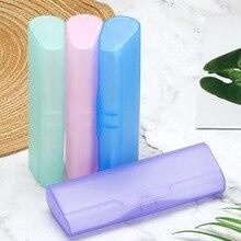 1 шт модный портативный пластиковый полупрозрачный чехол для очков PP коробка для очков для мужчин и женщин