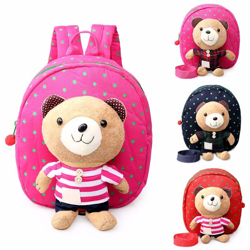 Safety Harnesses For 1-3 Years Old Baby Toddler Walking Keeper Bear Backpack Strap Bag Anti Lost Children plush