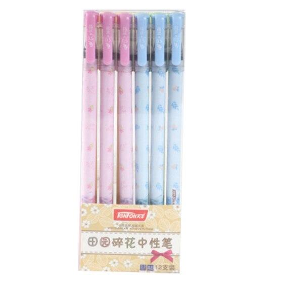 TENFON G-3125 0.5MM pen, pink & blue & green & yellow ppyy new tenfon g 3125 0 5mm pen pink