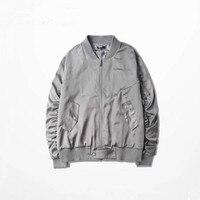 2016 High Street Men Clothes Brand Clothing Mens Jackets Kanye West Pilot Flight Coats Satin Ma1