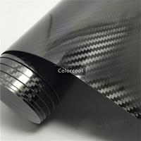 High Glossy Black 5D Carbon Fiber Vinyl Wrap Film 1 52 20m Glossy Textured Carbon Fiber