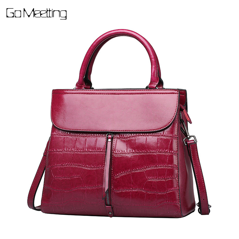 Go Meetting genuine leather bags handbag cross body bags for women shoulder Messenger bag bolsa feminina Tote mochila sac a main цена