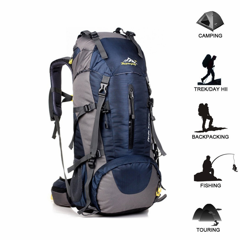 50L sac à dos tactique imperméable voyage randonnée sac à dos Camping en plein air sac à dos escalade sport sac équipement avec couverture de pluie