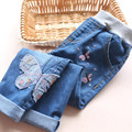 1839742 Retail 2016 Nova Spirng Moda Bebê Jeans Menina Apliques Borboleta Da Menina Da Criança Calças Jeans Casual Menina Roupas Lolita