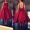lovely short cocktail dresses 2017 ball gown backless simple burgundy girl coctail dress for prom party robe de soiree