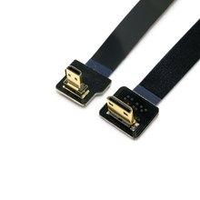 Up Angled 90 Degree FPV Micro HDMI Male to Mini HDMI FPC Flat Cable 20cm for GOPRO Multicopter Aerial Photography 0 1m 1m 90 degree down angled fpv micro hdmi male to micro hdmi fpc flat cable for multicopter aerial photography 0 1m 0 5m