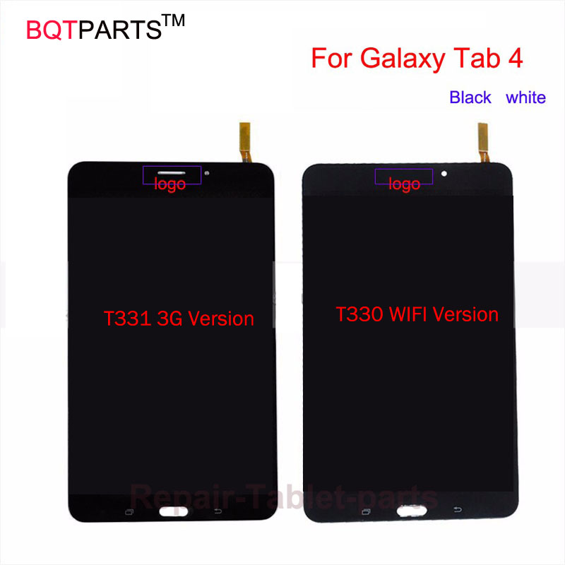 BQT New Tested For Samsung Galaxy Tab 4 8.0 T330 T331 Lcd Screen Display with Touch Screen Digitizer Full Assembly Black  white 100% brand new lcd digitizer touch screen display assembly for samsung galaxy note 4 n910 n910a n910v n910p n910t black or white