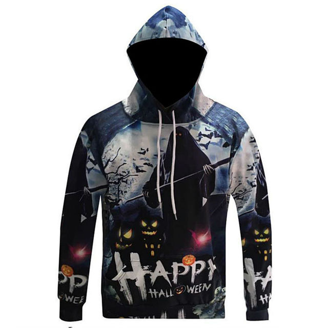 happy halloween hoodie men pumpkin light ghosts and witches clothing 3d print sweatshirts funny hot sweats