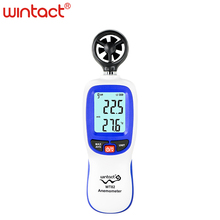 цена на Digital wind speed meter scale Anemometer Thermometer WT82 WINTACT