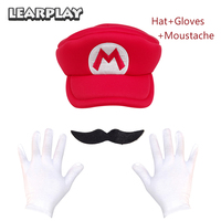 Game Super Mario Odyssey Cappy Hat Anime Bros Luigi Waluigi Wario Cosplay Caps Moustache Gloves Adults Kids Christmas Party Prop