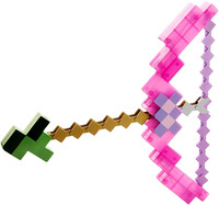 Minecraft toy pixel Mosaic Minecraft bow and Arrow Sword pickaxe set of plastic set of children's toy game Gift