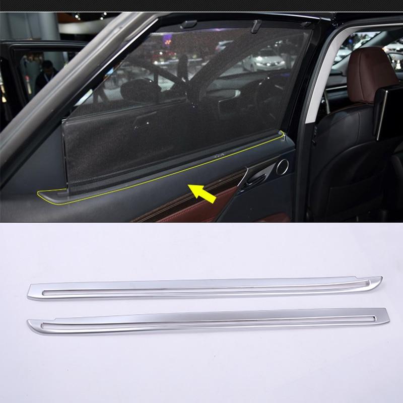 For Lexus RX 2015 2016 Car Styling ABS Chrome Window Decoration Strips Trim Auto Accessories 2pcs for hyundai tucson 2015 2016 2017 car styling window decoration strip trim cover molding pillar trim strips auto window strips