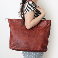 2016 New Genuine Leather Women Bags Vintage Cowhide Handbags Female Shoulder Bags Brand Natural Skin Bags